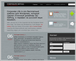 Шаблон Corporate Metall