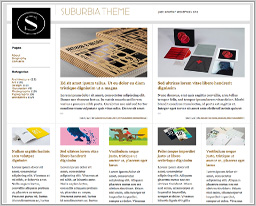 "Wordpress шаблон ""Suburbia"""