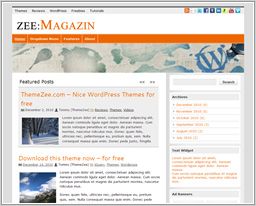 "Wordpress шаблон ""zeeMagazine"""