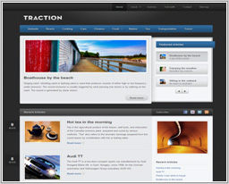 "Wordpress шаблон ""Traction"""