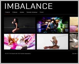 "Wordpress шаблон ""Imbalance"""