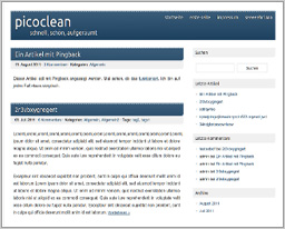 "Wordpress шаблон ""PicoClean"""