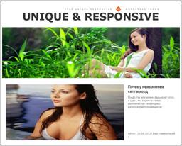 """Wordpress шаблон """"Unique Responsive"""""""