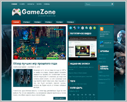"Wordpress шаблон ""GameZone"""
