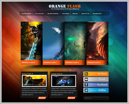 "Wordpress шаблон ""Orange Flash"""