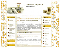 "Wordpress шаблон ""Time is Money"""