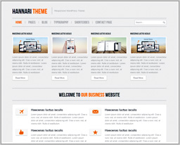 Wordpress шаблон Hannari